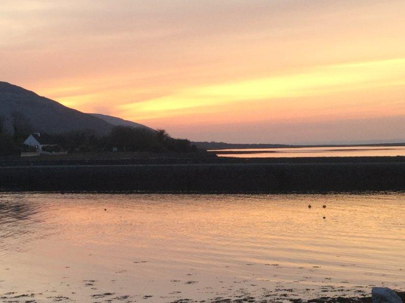 Sonnenuntergang am Pier Bally