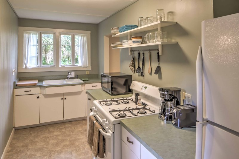 The house features a fully equipped and newly updated kitchen so you can cook with ease.