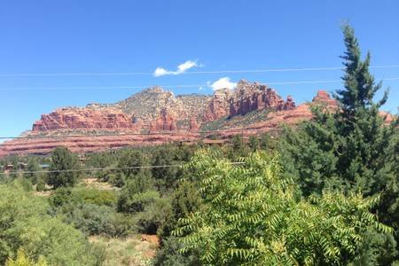 One of many views in our quiet neighborhood, yet just a few minute stroll to Uptown Sedona.