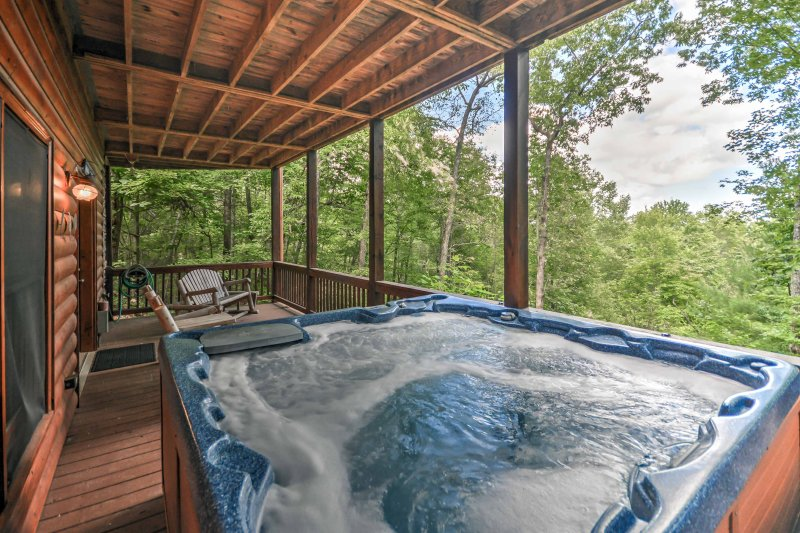The hot tub is sure to be your favorite feature of the property!