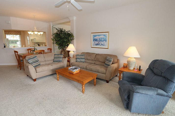 Warm and inviting living space