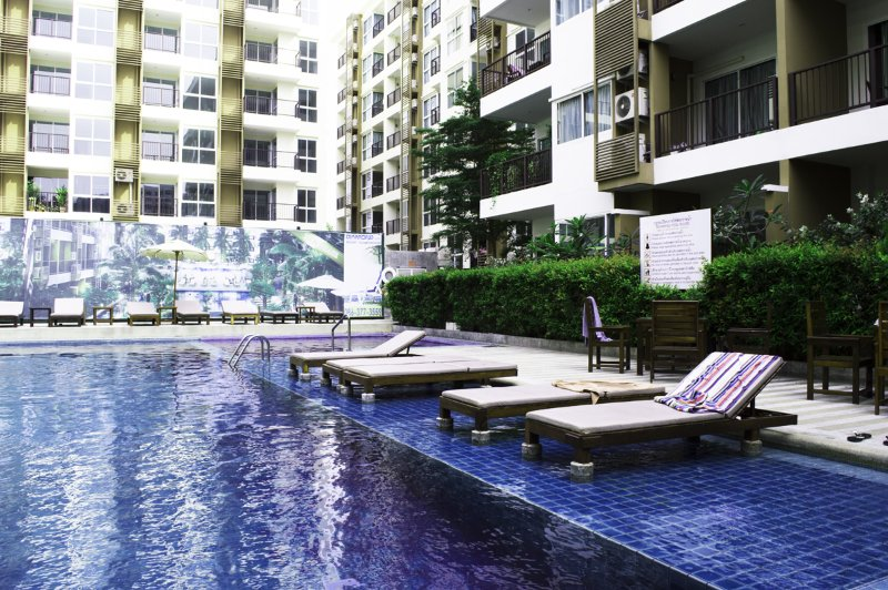Swimming pool area with