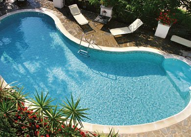 pool seen by the terrace