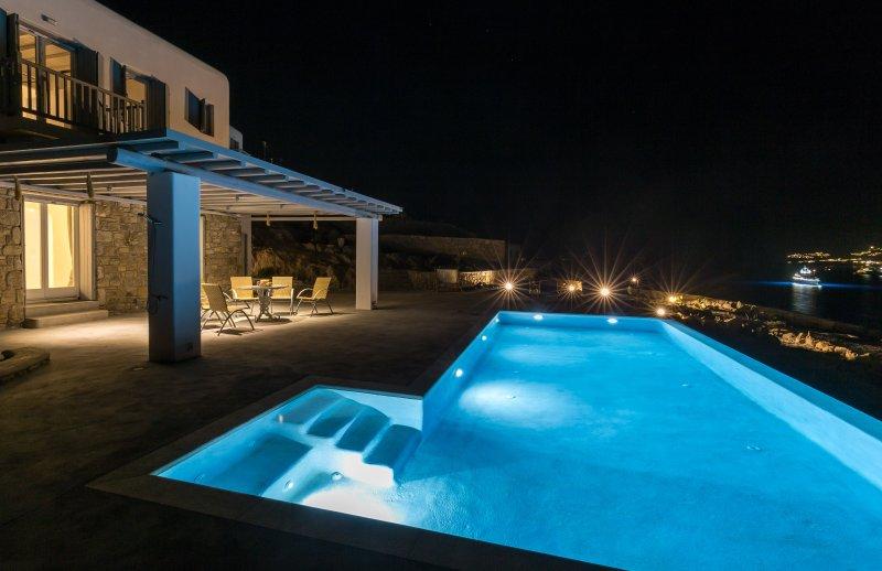 Vista di notte dalla villa