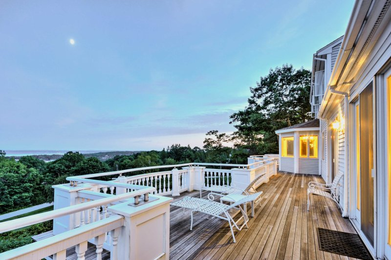 Experience the coast of Maine when you stay at this beautiful 5-bedroom, 5-bathroom vacation rental house in Rockport.