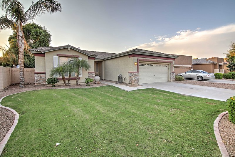 Vacation in the Phoenix area while staying in this 3-bedroom, 2-bathroom Gilbert vacation rental house!