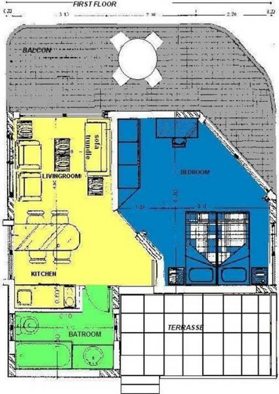 Map of the apartment upstairs