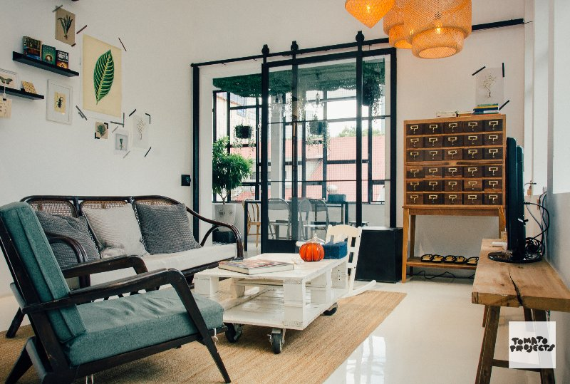 Woonkamer in SOHO Appartement