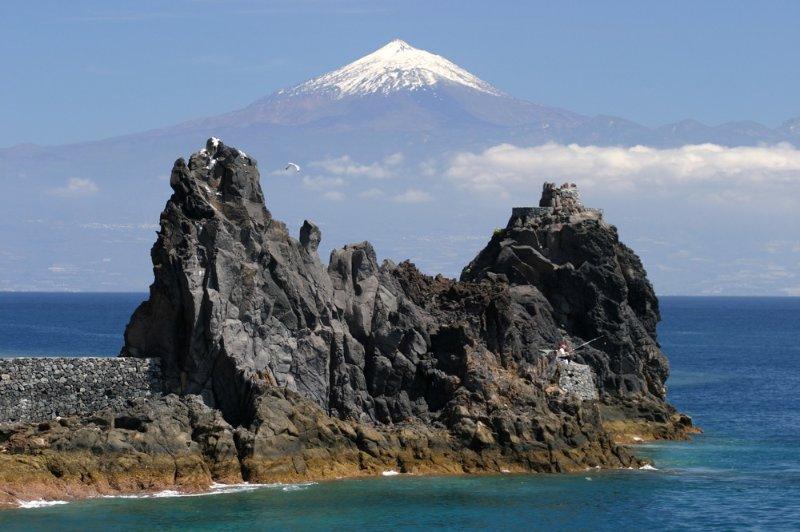 Blick von La Gomera nach Teneriffa