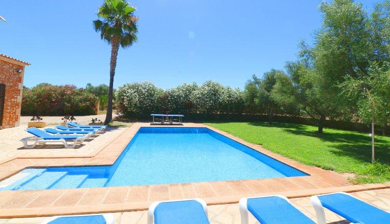 Can Mates Nou, wifi free, private pool, alquiler de vacaciones en Campos