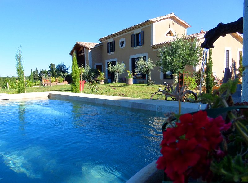 Mas provençal avec vue imprenable, holiday rental in Buisson