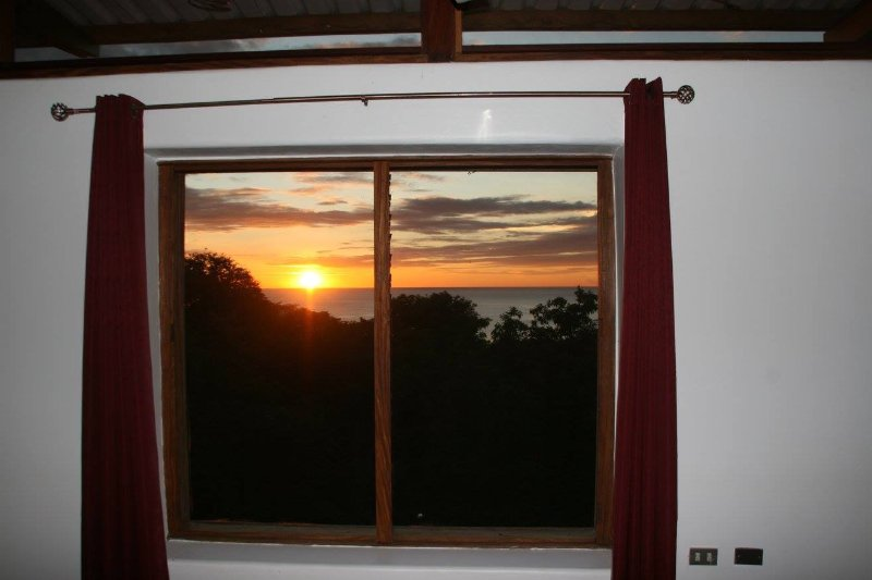 Lovely sunset from the red bedroom.