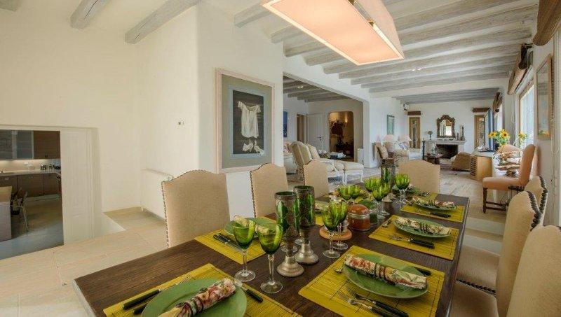 Cena y sala de estar