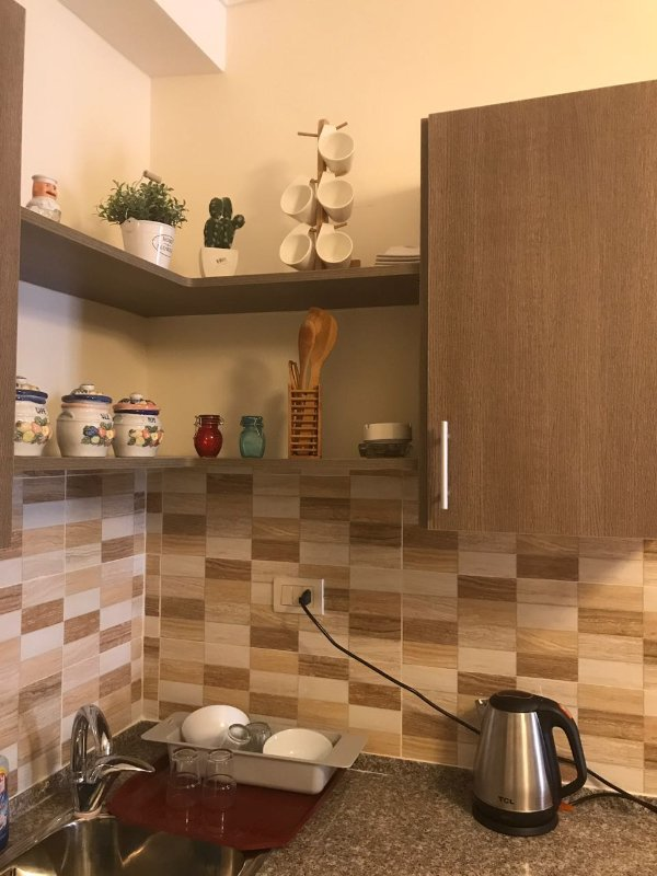 American kitchen with all utensils needed including electronics