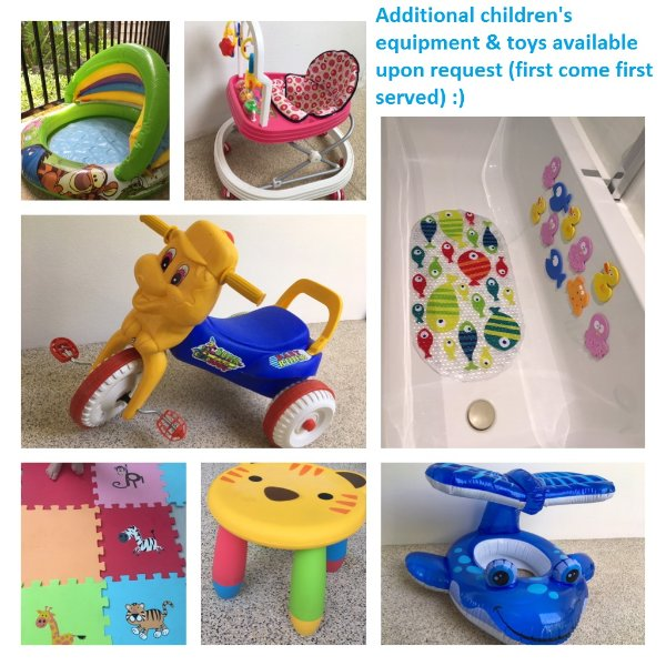 Additional toys & equipment available on first come, first served basis