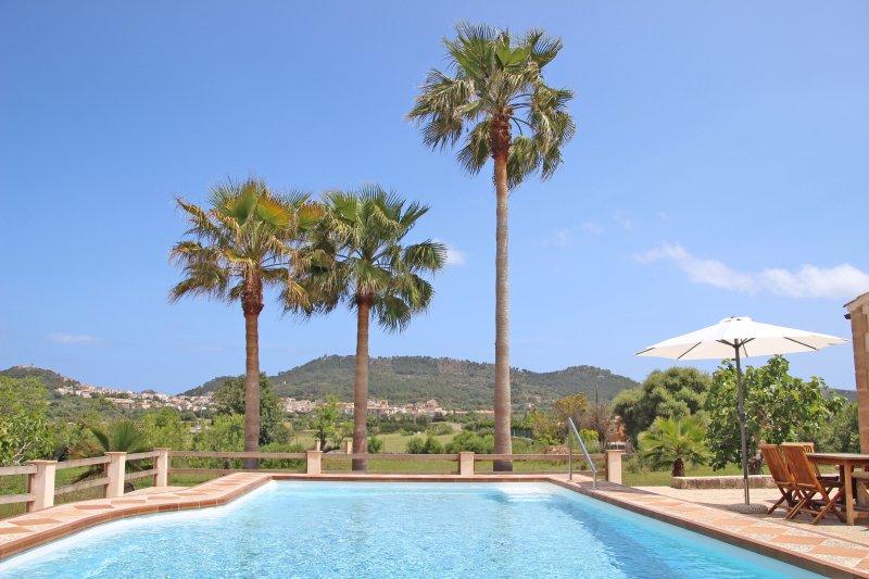 FINCA S' AGRET Ferienhaus zwischen Capdepera und Artà mit tollem Blick und Pool, holiday rental in Cala Agulla