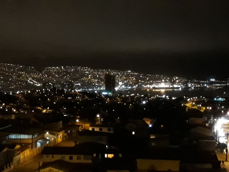 Night view of the bay from the balcony.