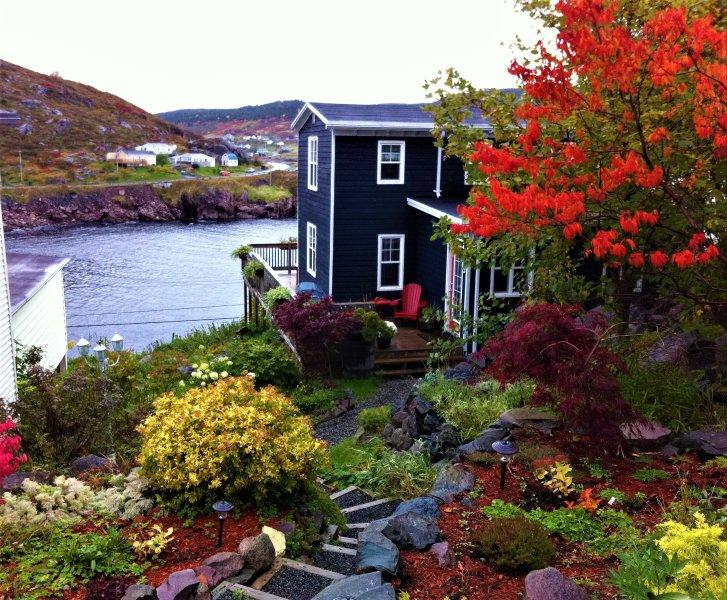 Golfbreker Cottage in de herfst
