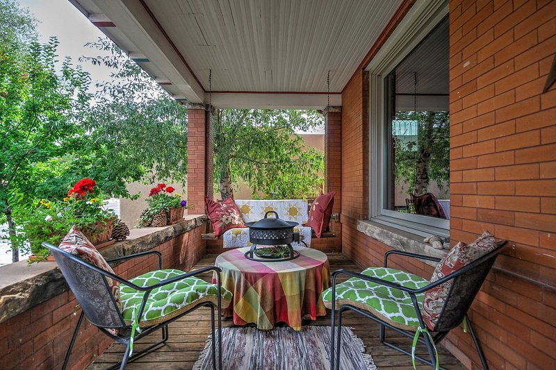 Discover Wyoming from this cozy 2-bed, 1-bath Laramie vacation rental apartment.