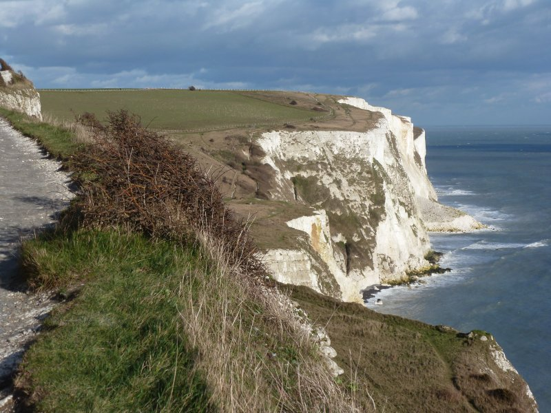Great scenic walks along the White Cliffs of Dover looking over the Channel to France