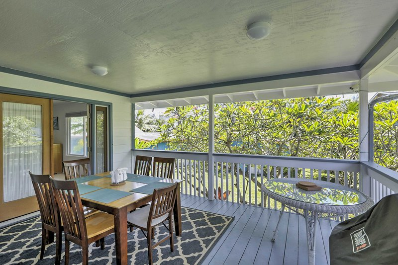 Embrace the Aloha Spirit at this beachfront 2-bed, 2-bath Hauula vacation rental!