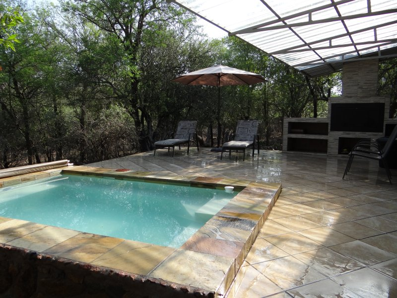 Private deck, braai and pool. No other houses insight