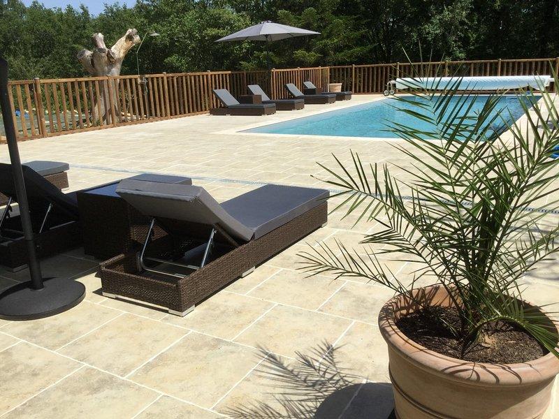 La piscina dispone di una spaziosa terrazza.