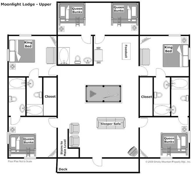 8 Bedroom Vacation Rentals: Moonlight Lodge UPDATED 2019: 8 Bedroom Cabin In Pigeon