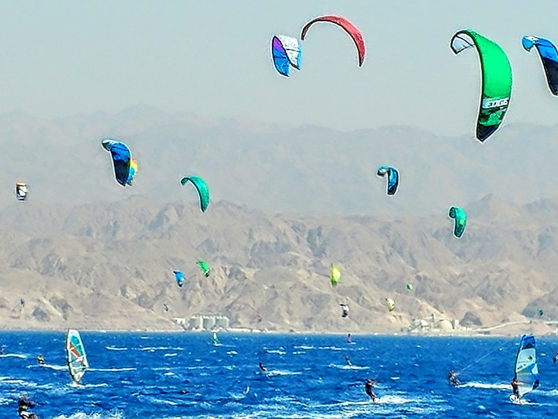 Rif raf beach kite surf eilat