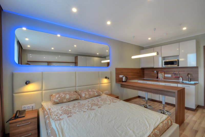 New Design Apartments with LED light, holiday rental in Khimki