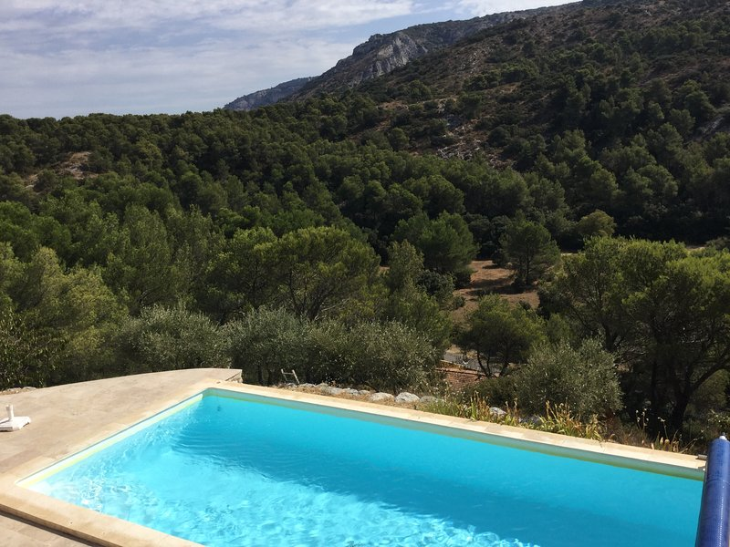 La location vacances dispose d'une piscine
