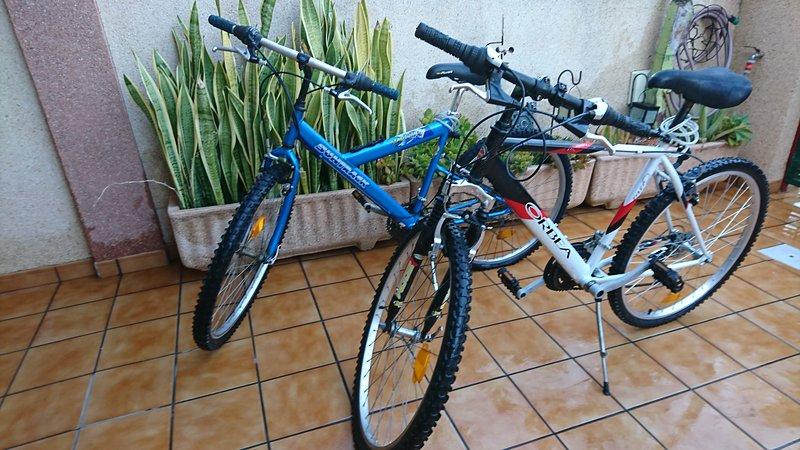Les prestamos nuestras bicicletas. Rogamos las cuiden al máximo para el resto de inquilinos