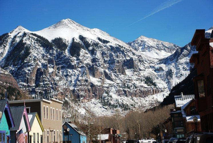 Ajax Peak au bout de la vallée de Telluride