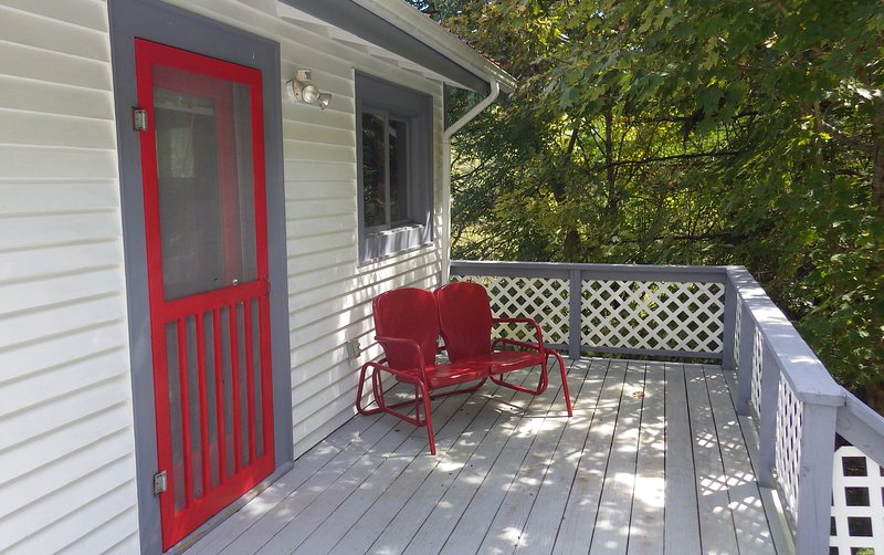 Private front porch.