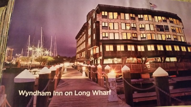 Wyndham Inn on Long Wharf situated right on the water