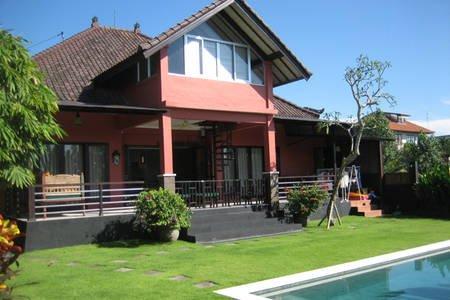 Canggu/Brawa: Charming 3BR/3BA private Pool Villa on 700m2 land. Great gardens!, alquiler de vacaciones en Tibubeneng