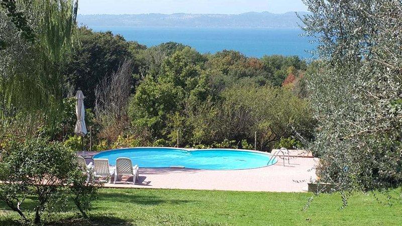 Villa Cardeto Trevignano Romano, vacation rental in Monterosi