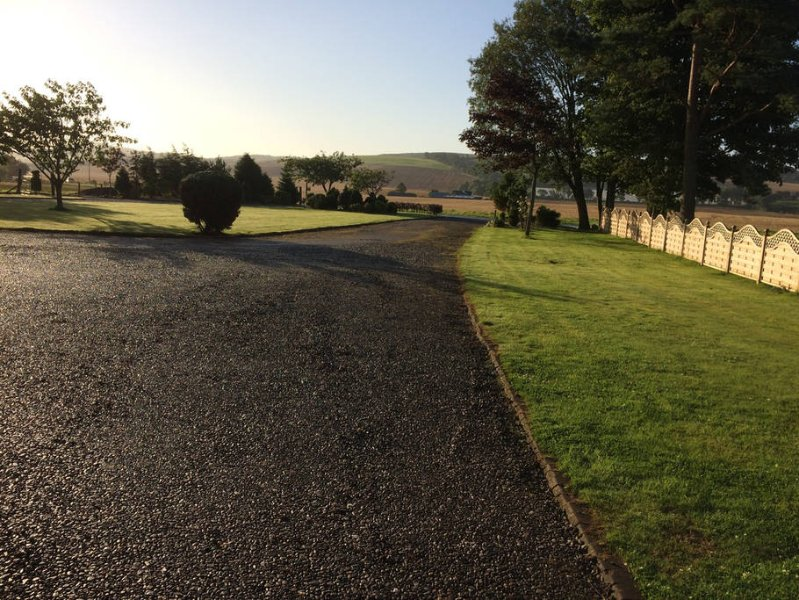 the drive way and front garden of Summerfield View