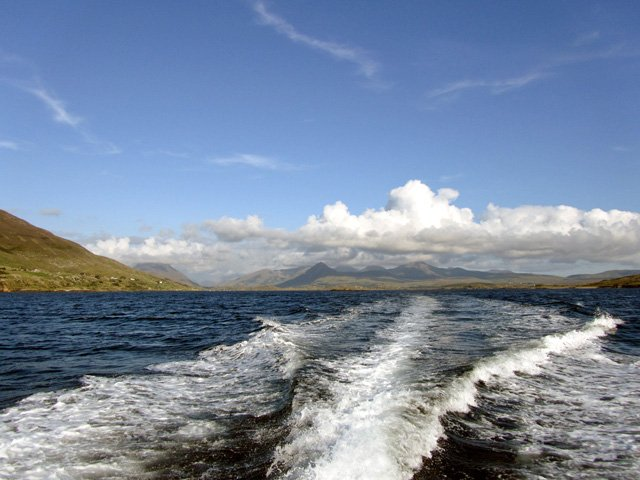 View of Connemara from the water