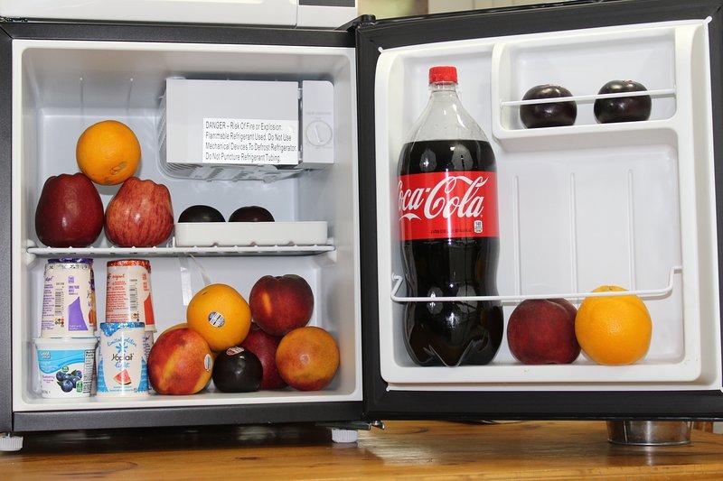 Kleine koelkast in de kamer voor uw gemak