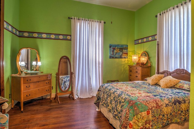 Rest and recuperate in this spacious bedroom.