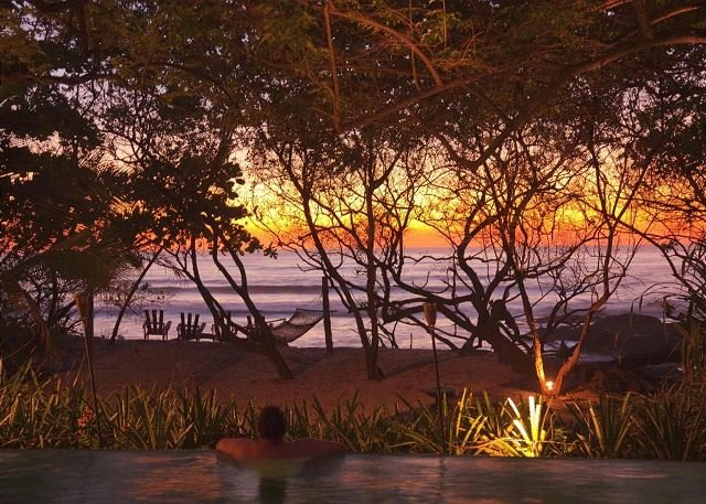 Enjoy breathtaking Costa Rica sunsets from the pool
