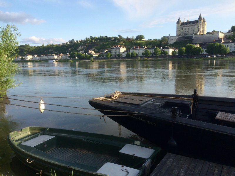 The pretty town of Saumur, the pearl of Anjou and the Loire