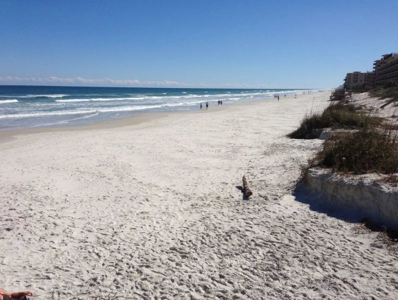 Miles of beautiful beach.