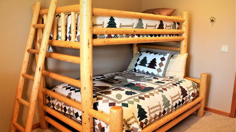 Downstairs Guest Room 3 w/ Twin over Full Bunk Bed