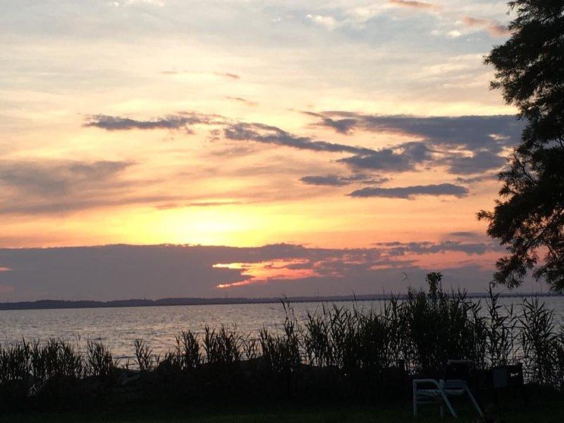 tramonto sul suono