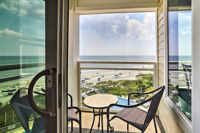 You'll have a bird's-eye view of the beautiful beach.