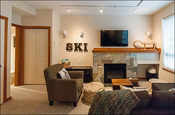 Enjoy the Gas Fireplace While Watching TV