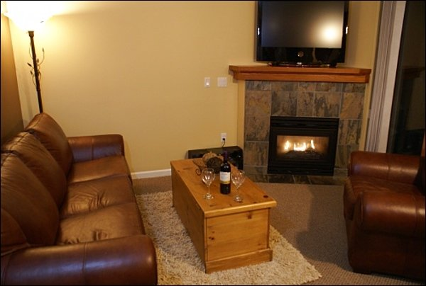 Relax in the Living Room by the Fireplace