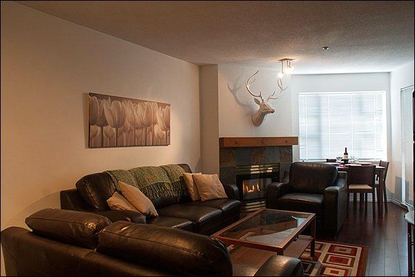 Disfrute de la sala de estar recientemente renovada